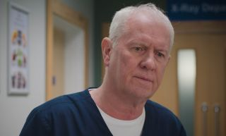 Stressed and sad, Charlie in Casualty