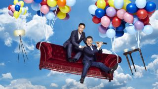 And and Dec on a flying sofa