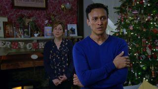 Laurel and Jai struggle in Emmerdale