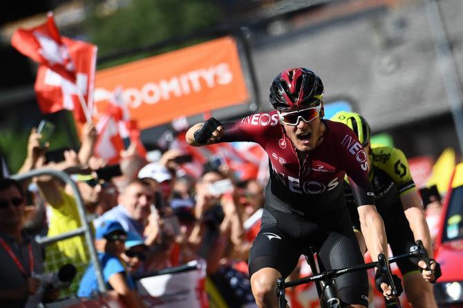 Dylan van Baarle wins the final stage at Criterium du Dauphine