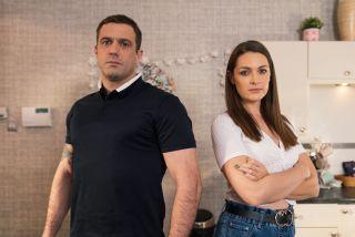 Sienna Blake and Warren Fox in Hollyoaks