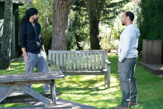 Kheerat tells Mitch Baker Chantelle was unhappy with Gray in EastEnders