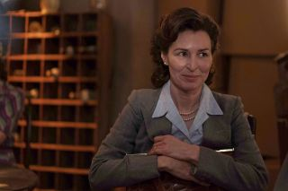 Helen Baxendale Agatha Christie in Agatha and the Midnight Murders