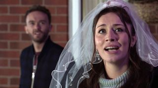 Coronation Street David and Shona re-enact their wedding