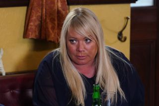 Sharon Mitchell and Callum Highway in EastEnders