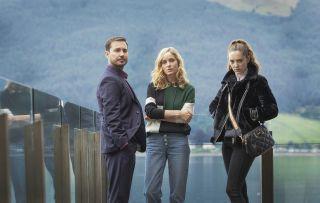 Martin Compston, Sarah Rundle and Mirren Mack