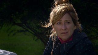 Laurel is full of self-loathing in Emmerdale