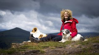Kate Humble with her dogs on Escape to the Farm with Kate Humble
