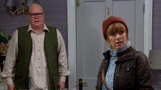 Paddy and Rhona Goskirk in Emmerdale