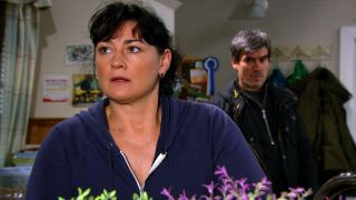 Moira tells Cain to stay away in Emmerdale