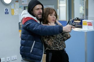 The moment Connie was taken hostage by Mick