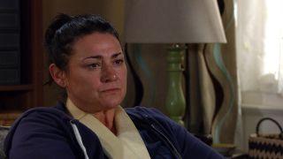 Moira feels betrayed in Emmerdale