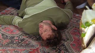 Jamie is drunk, slips, hits his head and falls unconscious in Emmerdale