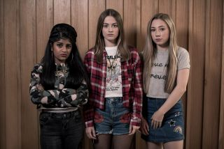 Yasmine, Lily and Peri in Hollyoaks