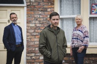Coronation Street new Todd Grimshaw with Billie and Eileen