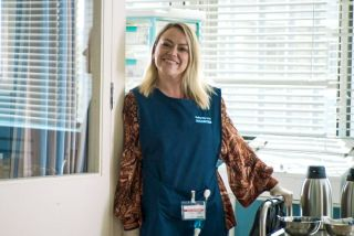 Sian Reese Williams plays Jodie Rodgers in Holby City