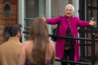 Week 3 Trish Minniver played by Denise Welch in Hollyoaks