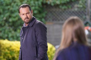 Mick is suspicious of Frankie in EastEnders