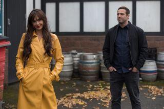 Mercedes and Warren in Hollyoaks