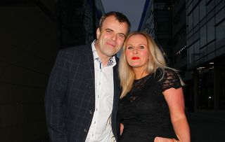 Simon Gregson and his wife Emma on a night out