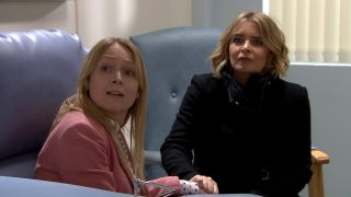 Charity and Vanessa are scared in Emmerdale