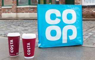 Coronation Street to get a Costa Coffee and a Co-op!