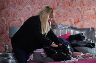 EastEnders Sharon Mitchell makes a discovery