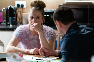 Linda Carter is having second thoughts in EastEnders
