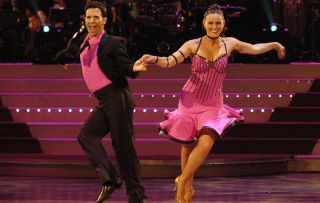 Strictly Come Dancing winners Jill Halfpenny dancing at Blackpool