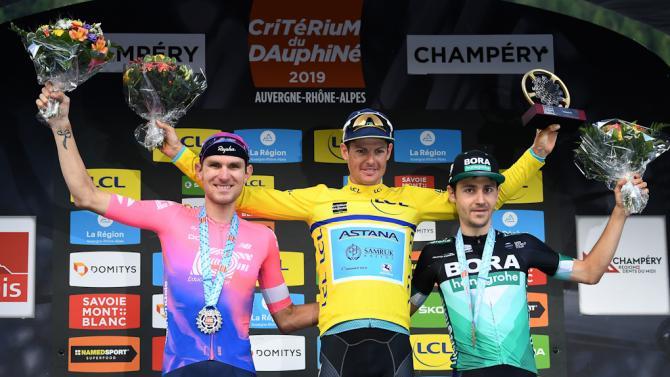 Van Garderen, Fuglsang and Buchmann on the final Dauphine podium
