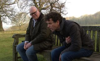 Paddy is worried Marlon is having a heart attack in Emmerdale