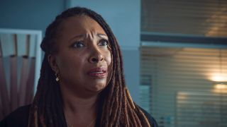 Jo Martin plays Max McGerry in Holby