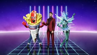 Joel Dommett poses with Sausage and Seahorse