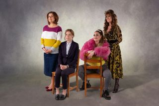 Rebecca Front, Ellie White, Lauren Socha and Siobhan Finneran in The Other One