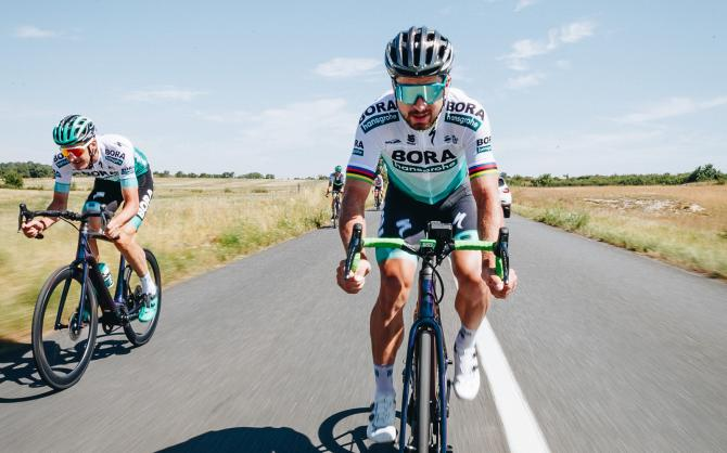 Peter Sagan rides the new Specialized Creo e-bike