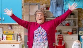 Brendan O'Carroll in character as Mrs Brown