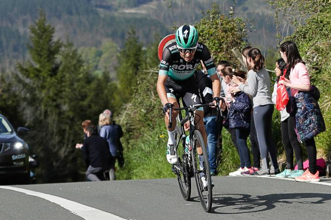 Emanuel Buchmann goes solo on stage 5 at Pais Vasco