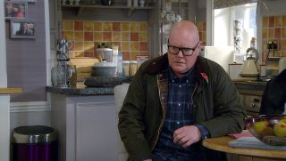Paddy Kirk overhears Chas tell Eve how much she loves him