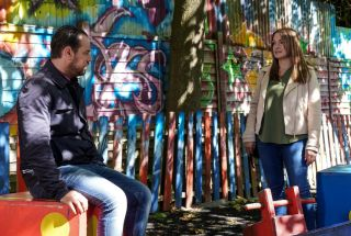 Mick Carter meets Katy Lewis in EastEnders