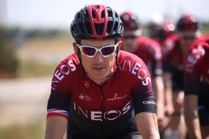 Geraint Thomas (Team Ineos) on the second rest day of the Tour de France.