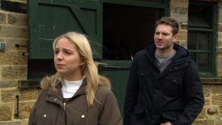 Belle confronts Jamie in Emmerdale