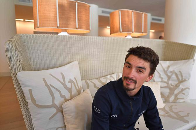 Julian Alaphilippe is relaxed before the start of Tirreno-Adriatico