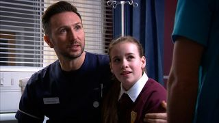 Macey Chipping as Fletch's daughter in Holby City