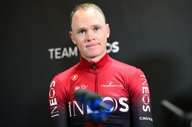 Chris Froome at the Team Ineos launch