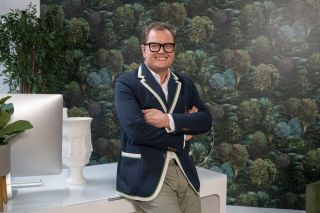 Alan Carr on the set of Interior Design Masters