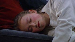 Liv Flaherty has a seizure