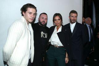 Brooklyn Beckham, Stylist Kim Jones, Victoria Beckham and David Beckham