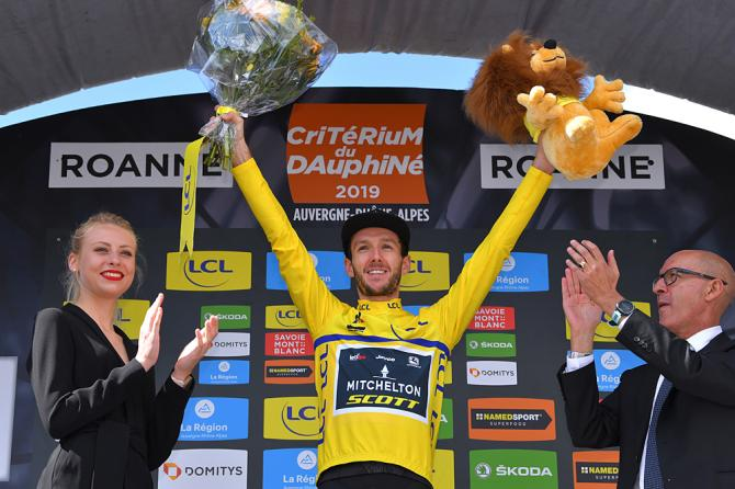 Adam Yates (Mitchelton-Scott) moves into the overall lead after the time trial at the Criterium du Dauphine