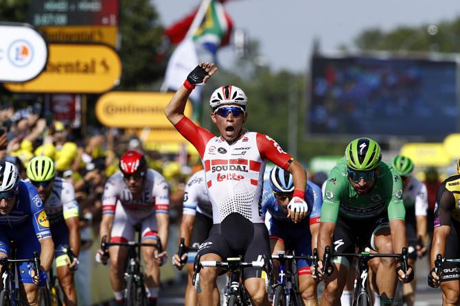 Caleb Ewan (Lotto Soudal) wins stage 16 at the Tour de France
