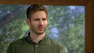 Jamie is shocked in Emmerdale